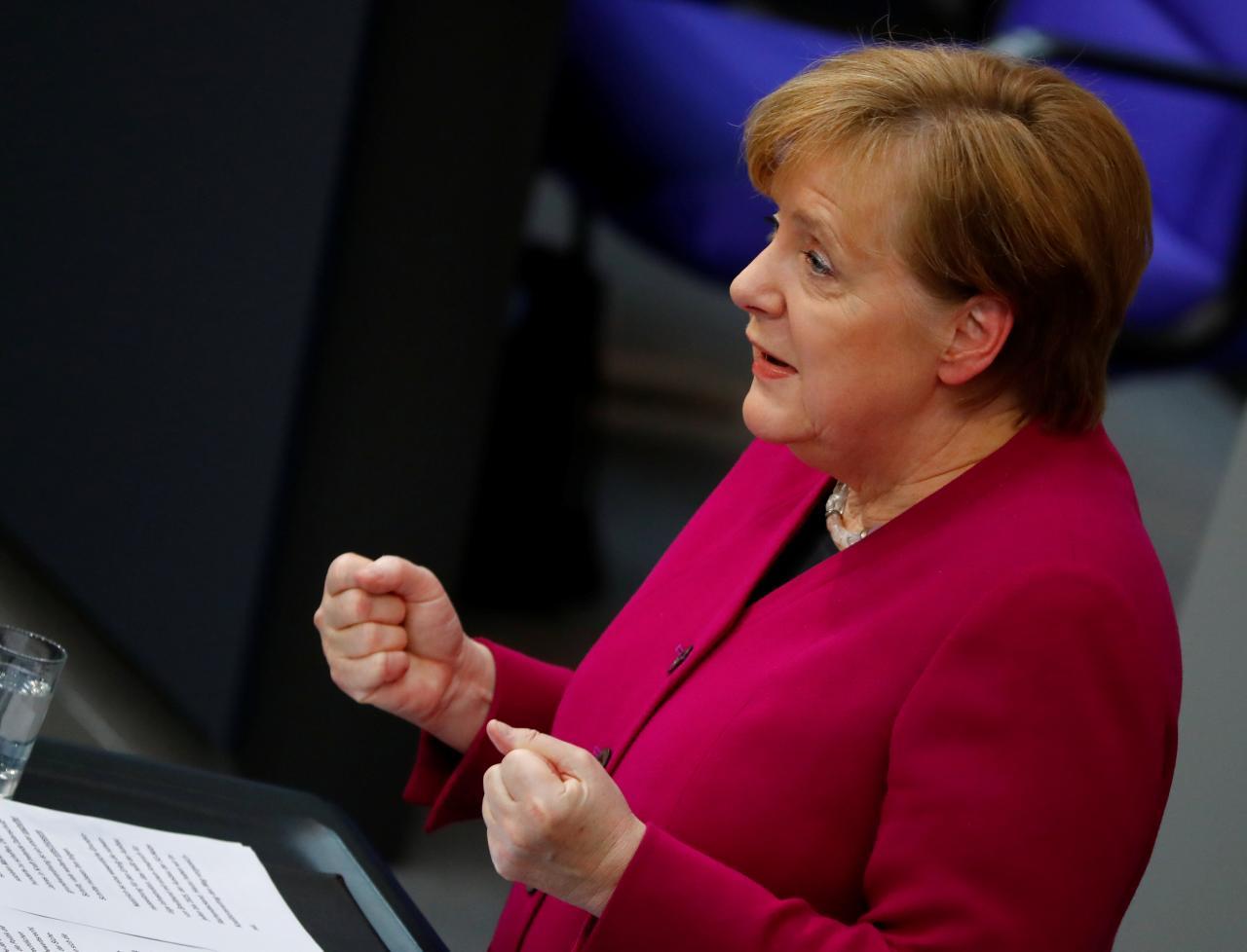 German Chancellor Angela Merkel condemns Turkey's Afrin offensive