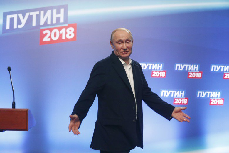 Putin re-elected as Russia's President in landslide victory