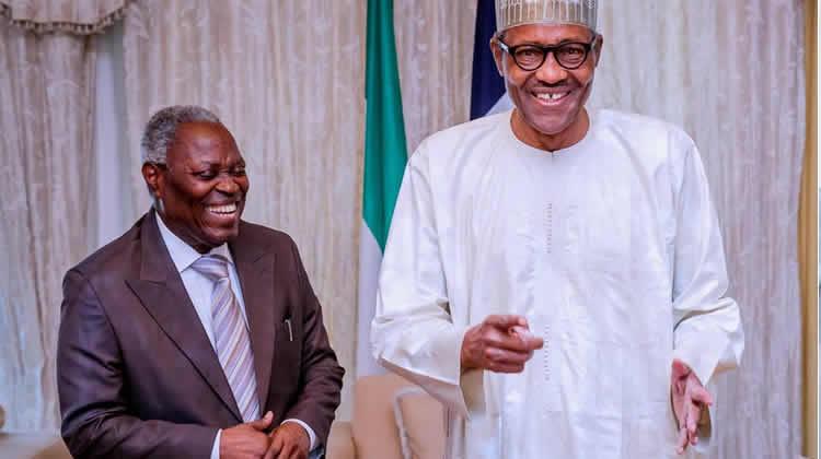 President Buhari Greets Pastor W.F Kumuyi At 78