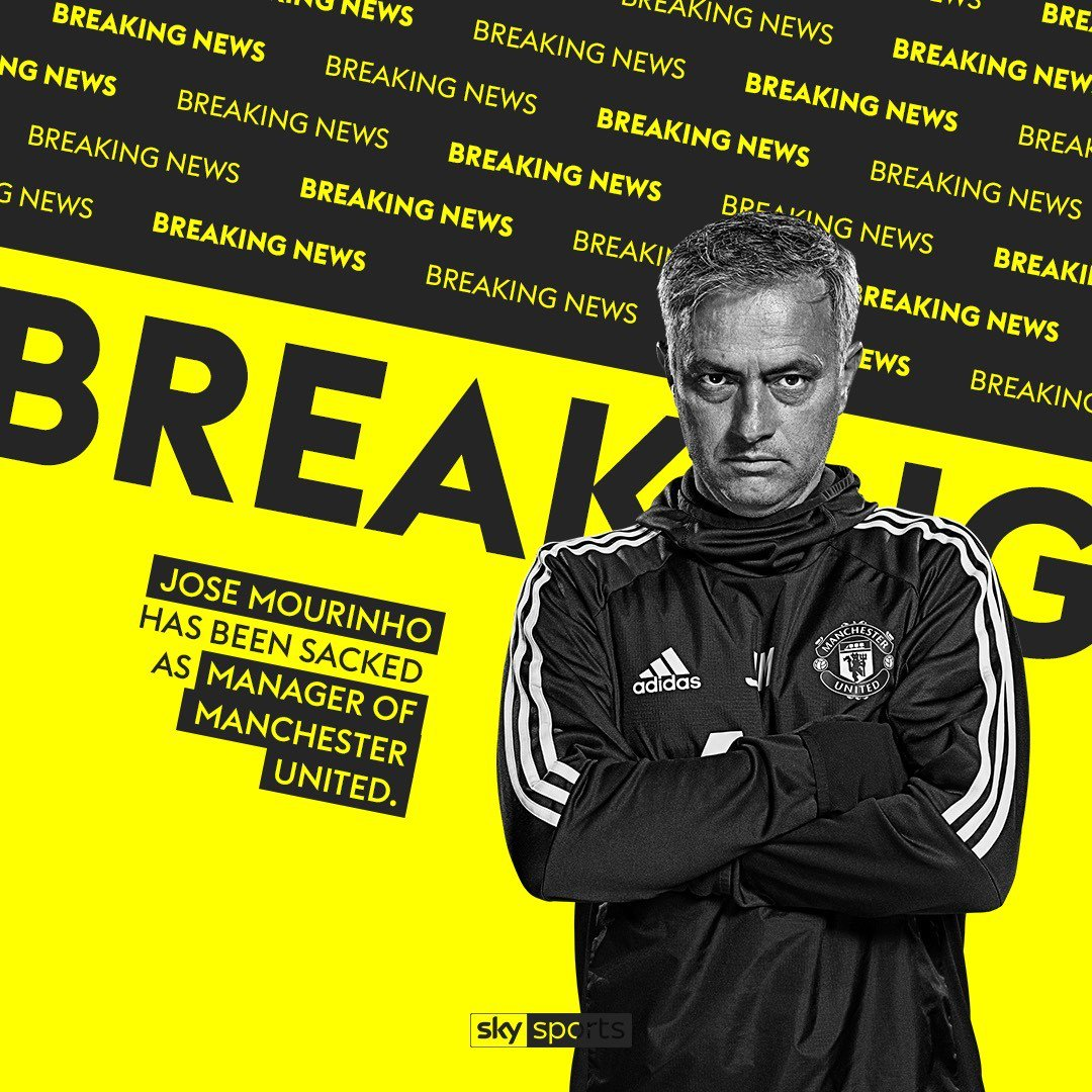 Man Utd sack Mourinho after poor start to the season