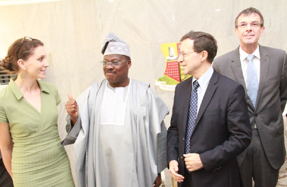 Pics as french envoys visit Ajimobi