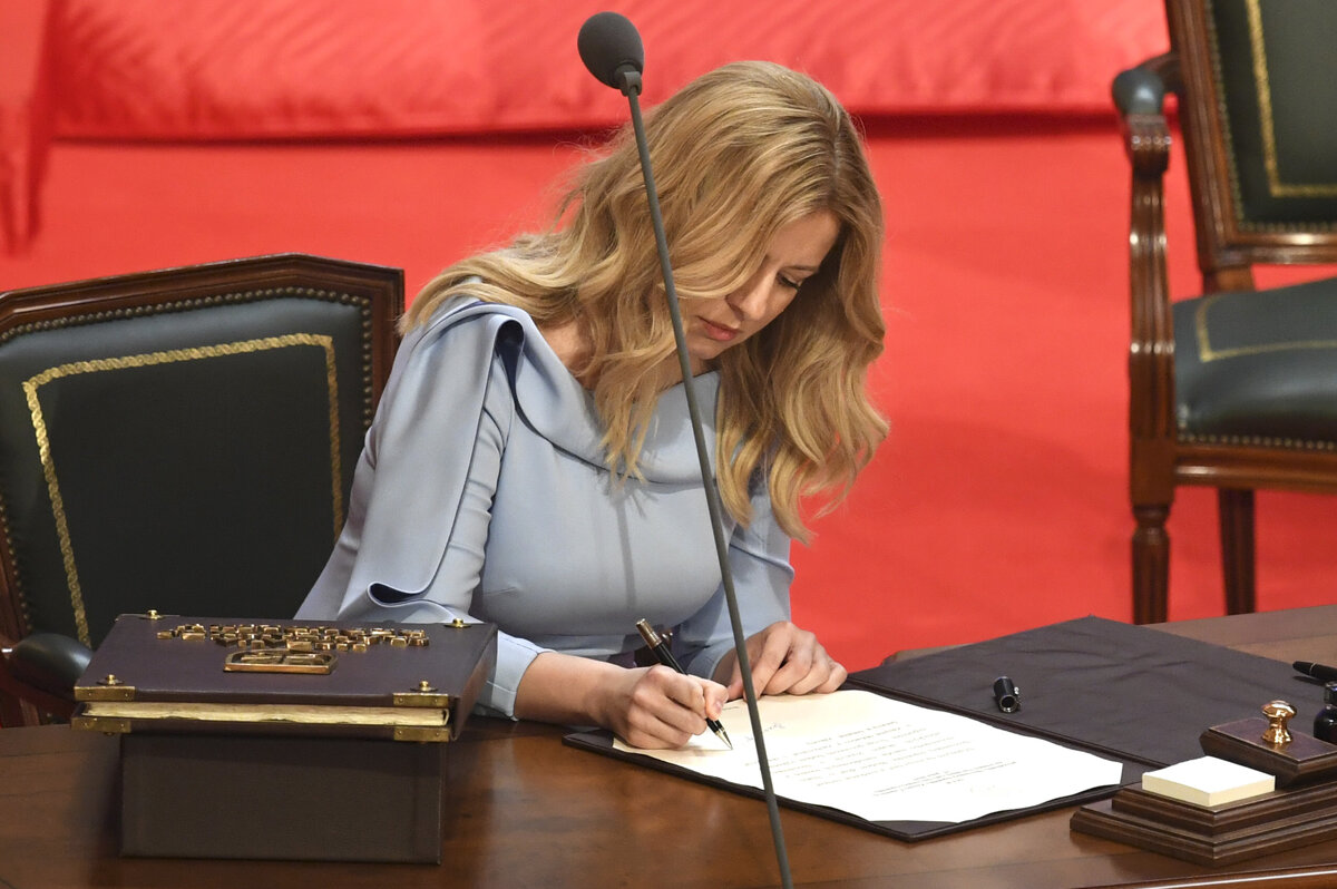 Slovakia swears in first woman president Caputova