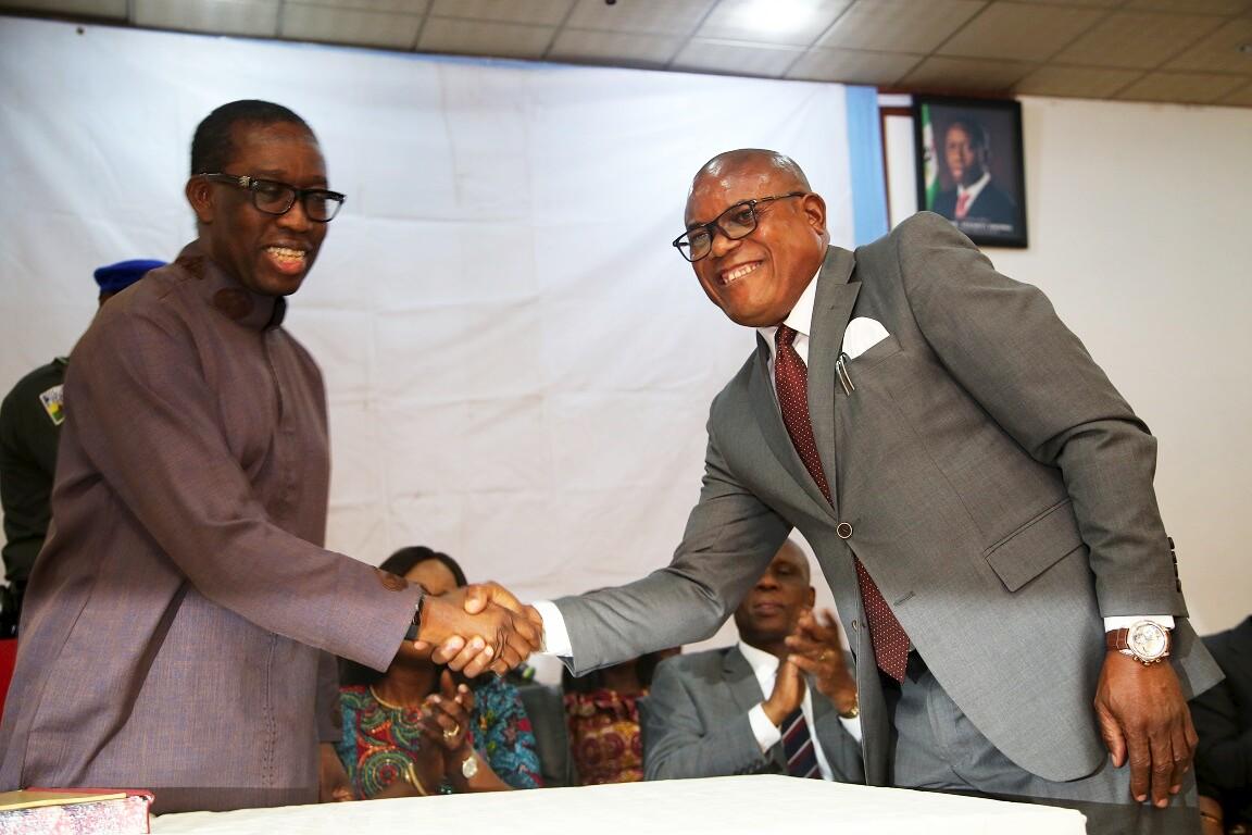 My Second Tenure Will Be Very Busy – Okowa … Inaugurates Funkekeme Solomon As Senior Political Adviser