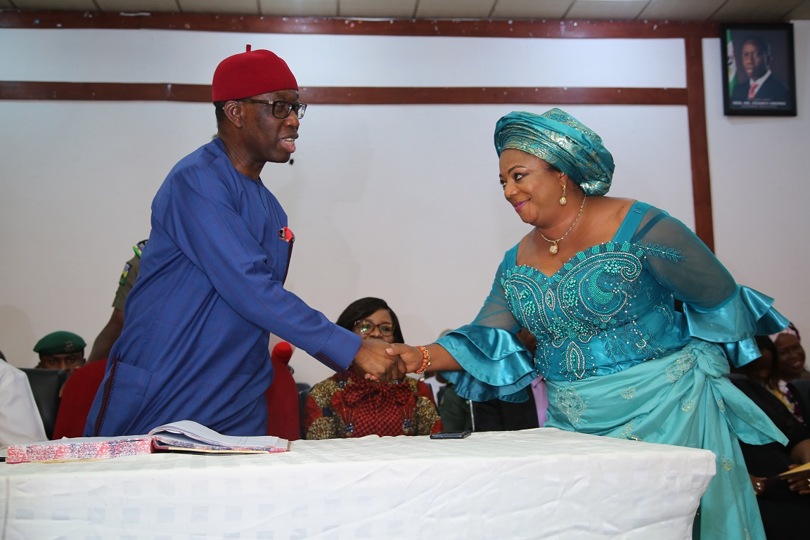 Okowa Swears-In Eight Commissioners …challenges them On Fairness, Equity And Justice