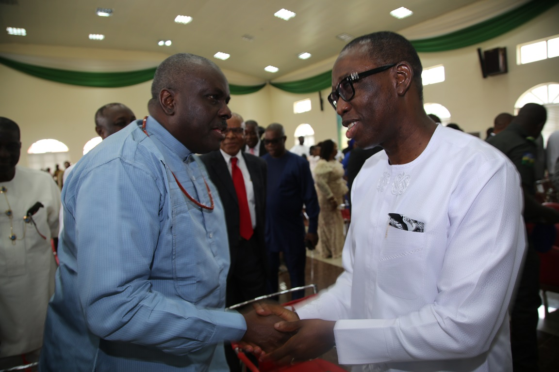 PHOTO NEWS: GOV. Ifeanyi Okowa's 60th Thanksgiving Service In Asaba
