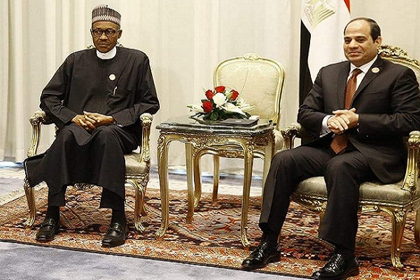 State House Press Release President Buhari , Egyptian President Parley On Counter Terrorism