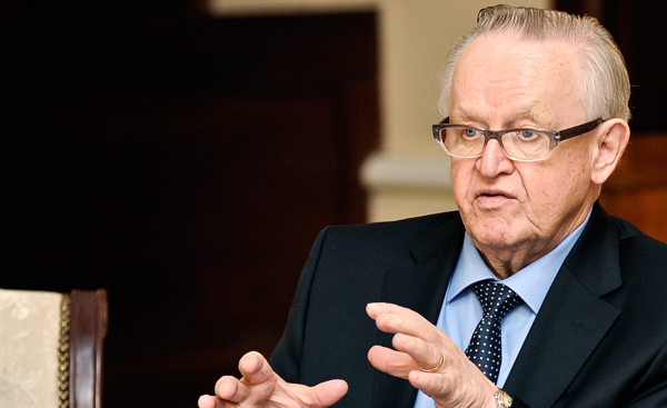 Nobel-winning peace negotiator Ahtisaari has coronavirus